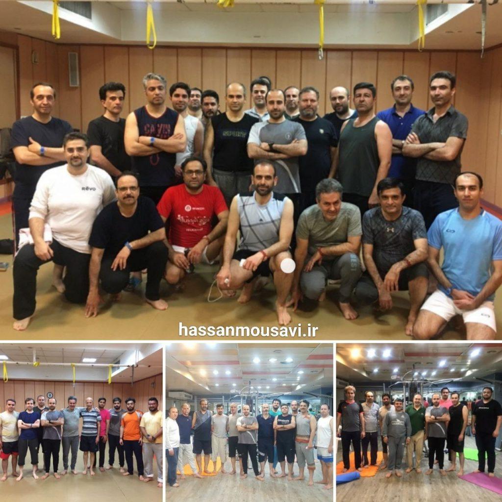 کلاس پیلاتس برای آقایان در مجموعه ورزشی آب تهران مربی حسن موسوی
