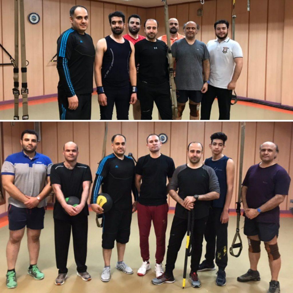 کلاس تی آر ایکس آقایان در مجموعه ورزشی آب تهران مربی حسن موسوی