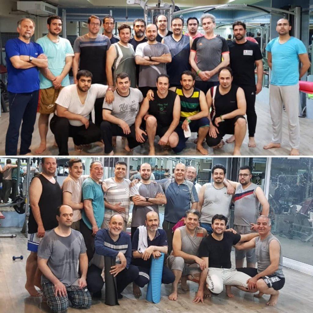 کلاس پیلاتس آقایان در مجموعه ورزشی رفاه تهران مربی حسن موسوی